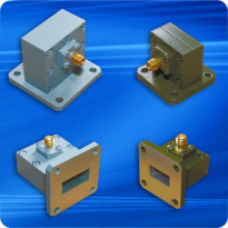 Coaxial-waveguide transitions
